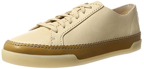 clarks-womens-hidi-holly-low-top-sneakers-beige-nude-leather-37-uk