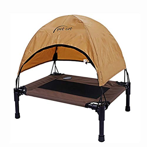 HUADEGO Elevated Pet Bed,Pet Cot Canopy with Canopy