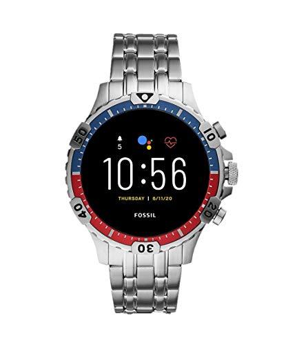 Oferta de Fossil Smartwatch Pantalla táctil para Hombre de Connected con Correa en Acero Inoxidable FTW4040