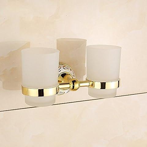 QUEEN'S Di oro e di rame uno spazzolino da denti in ceramica bicchiere uno spazzolino da denti a doppia porta bicchiere