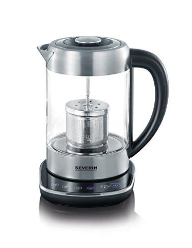Severin WK 3471 Glas-Tee Wasserkocher, Glas edelstahl gebürstet - 2