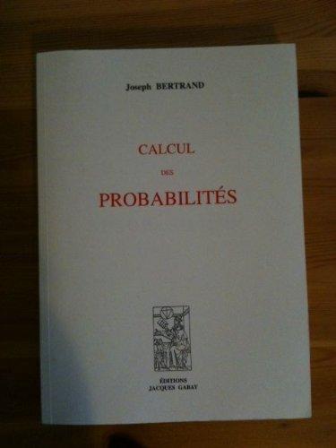Calcul des probabilités par Bertrand