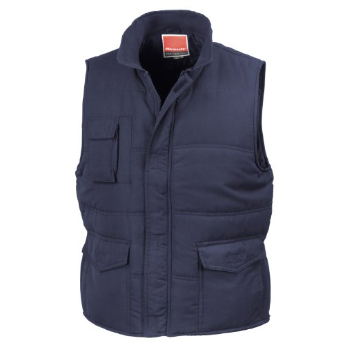 Result - Chaleco semi-impermeable cortavientos Modelo Mid-Weight hombre caballero (4XL/Azul real)
