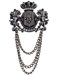 313950319 Panjatan Men s Cute Angel Unicorns with Black Chain Pin Brooch Premium  Quality