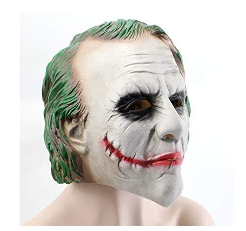 wanjuna Joker Latex Maske The Dark Knight Cosplay Horror Scary Clown Masken Halloween Party Dekoration Requisiten (Dark Joker Kostüm)