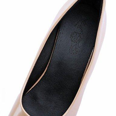 pwne Donna Tacchi Estate Autunno Novità Comfort Sintetico Pu In Pelle Di Brevetto Ufficio Matrimoni &Amp; Carriera Casual Walking Chunky Heel Lace-Upred Beige US8.5 / EU39 / UK6.5 / CN40