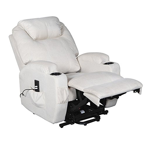 cavendish electric recliner chair with heat massage choice of colours cream amazoncouk kitchen u0026 home