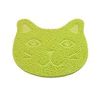 "ANBET Pet Feeding Mat, Cute Cat PVC Feeding Bowl pad Non-slip Food Mat for Dog Cat Puppy Kitty(11.8×15.7"")"