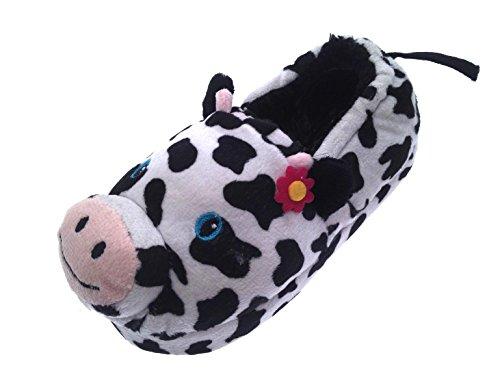 Lora Dora , Mädchen Hausschuhe Weiß Kuh (Kuh Hello Kitty)