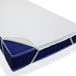 sinnlein® Mollettone Letto Impermeabile E Traspirante COPRIMATERASSO | 100% Cotone Matrimoniale | 60x120cm