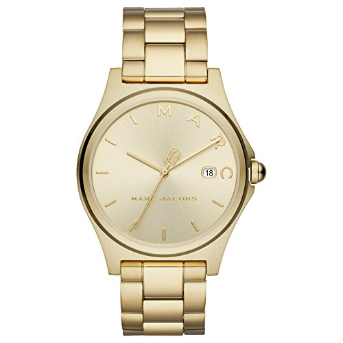 Marc Jacobs Women's 'Henry' Quartz Stainless Steel Casual Watch, Color:Gold-Toned (Model: MJ3584)