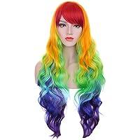 Hosee, piega riccia, colore: multicolore arcobaleno Rave-Costume