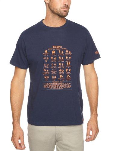 Craghoppers Herren T-Shirt Bear Animal Tracks, French Navy, L -