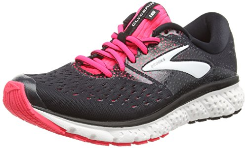 Brooks Glycerin 16, Scarpe da Running Donna, Multicolore (Black/Pink/Grey 070), 42.5 EU
