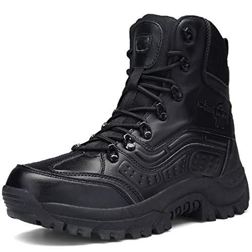 Stiefel Herren Wanderschuhe Trekkingschuhe Damen Armee Combat Tactical Boots Verschleißfest Rutschfeste Outdoor Einsatzstiefel Für Maenner Frauen, Schwarz01, 39 EU (Stiefel Swat)