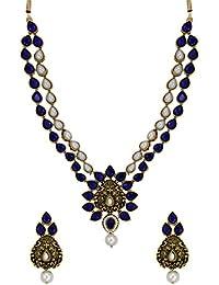 Zaveri Pearls Dark Antique Ethnic Necklace Set For Women - ZPFK6127