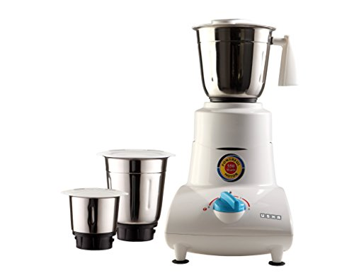 Usha Mixer Grinder (MG-2753) 550-Watt 3 Jars (White)