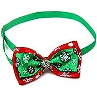 Fansi Hundehalsband Weihnachten Haustier Fliege Tier Hals Dekoration Bowtie mit Strasssteinen-Mehrere Farben verfügbar, Länge 20-36cm