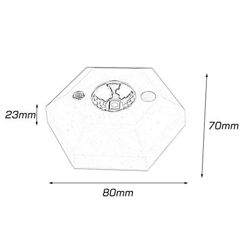 ulable Hohe Helligkeit LED Sechskant Body Induktion Lampe Bewegungsmelder 4,5V? Weiß? (Ge-bewegungsmelder Led-licht)