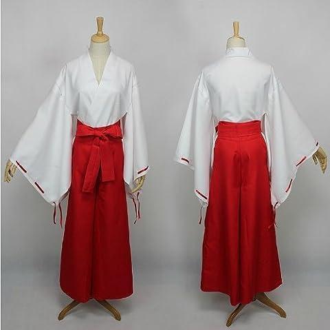 Inuyasha Anime Kikyou & Kikyo Cosplay Costume, taille S: (158-162cm,40-50 kg)
