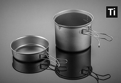 Fire-maple SnowTi Titanium 1.3L Outdoor Camping Pot et 0.42L Poêle