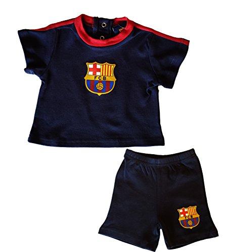 Barça Mehrteiliges Kleidungsset aus T-Shirt und kurzer Hose für Babys, offizielle Kollektion von FC Barcelona - 3 Monate