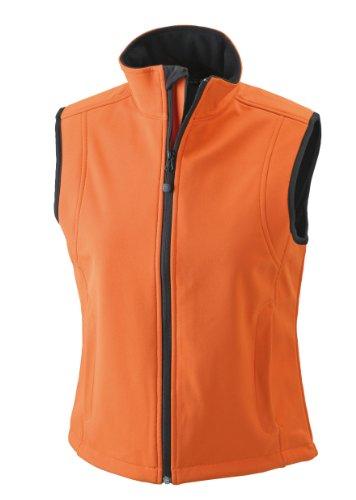 James & Nicholson JN138 - Gilè da donna, in tessuto Softshell Arancione (pop-orange)