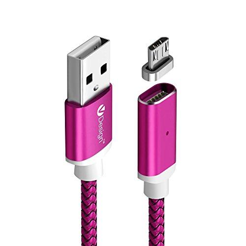 UGI Micro USB Kabel Ladekabel, 3m / 9.9ft Extra lange Nylon Geflochtene magnetische Android Ladekabel Lade für Samsung Galaxy, Samsung S6 / S7, Kindle, Nokia und mehr (übertragen Sie Bilder Auf Kindle)
