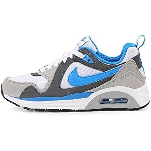 Nike Air Max Trax (GS) - Zapatillas deportivas para niños, color gris / azul / blanco