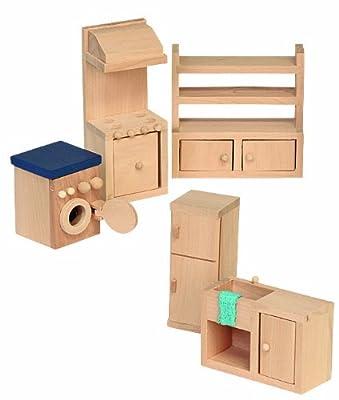 Beluga 70120 - Muebles de madera para la cocina de casa de muñecas de Beluga