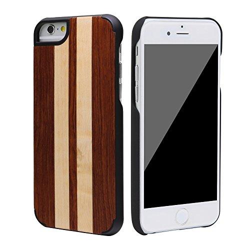 """SunSmart Klassische hölzerne Abdeckung iPhone 6 Natural Wood Schutzhülle für iPhone 6 4.7"""" --39 34"""