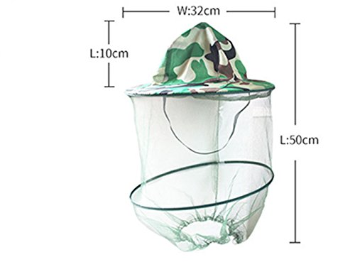 Katech Camouflage Beekeeping Hat Beekeeper Anti-mosquito Face Mask Outdoor Fishing and Camping Mosquito Netting Hat Protective Equipment 3