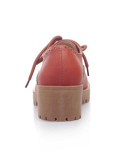 ZQ hug Scarpe Donna-Sneakers alla moda-Ufficio e lavoro / Casual-Punta arrotondata-Quadrato-Finta pelle-Giallo / Beige / Arancione , yellow-us8.5 / eu39 / uk6.5 / cn40 , yellow-us8.5 / eu39 / uk6.5 /  beige-us11 / eu43 / uk9 / cn44