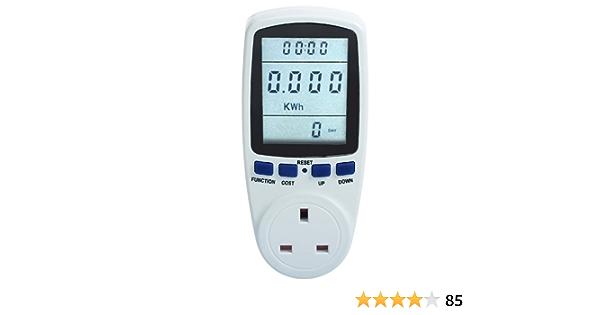 New Power Meter Energy Monitor Esocket Plug In Kwh Watt Amazon Co Uk Electronics