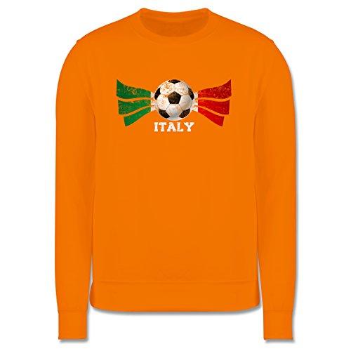 EM 2016 - Frankreich - Italy Fußball Vintage - Herren Premium Pullover Orange