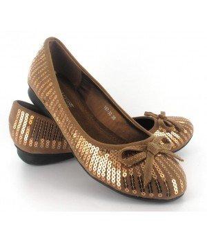 Chaussure Bas Prix - Ballerines dorées - 187-33-19 Doré
