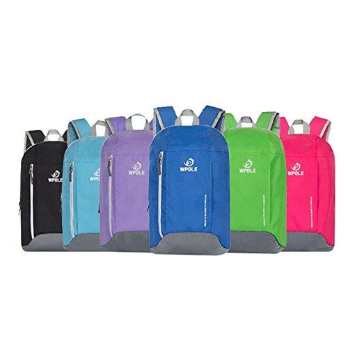 Broadcom super moderno unisex in nylon scuola borsa zaino termico impermeabile escursioni sport zaino Zaino pratico per il viaggio e sport outdoor, Blue Purple