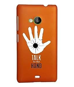 KolorEdge Back Cover For Microsoft Lumia 535 - Orange (2309-Ke15132Lumia535Orange3D)