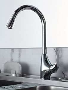 Kitchen Mixer Tap. Single Lever With Swivel Spout (56194)