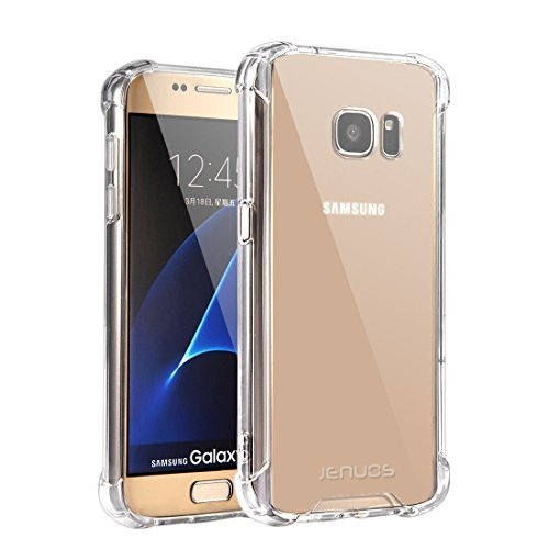 "Coque Samsung Galaxy S7, Jenuos Transparent Coque Antichoc Etui en Silicone TPU pour Samsung Galaxy S7 5.1"" Transparent (S7-TPU-CL)"