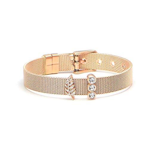 RicVanMur Armband Set - SHINE BALANCE Set Mesh Charmband in Gold, Silber, Rosé Gold Charms