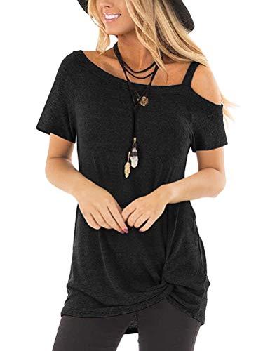 d5cd370fd76a OranDesigne Magliette Donna Manica Corta Casual Estiva T Shirt Sexy Manica  Corta Maglietta Comodo Top Maniche