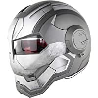 L XL Iron Man Transformers M CHEYAL D.O.T Certified Motorcycle Helmet Motocross Full Face Casco Moto Flip Open Mask Helmet