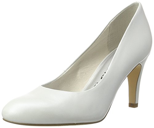 Tamaris Damen 22451 Pumps, Weiß (White 100), 39 EU
