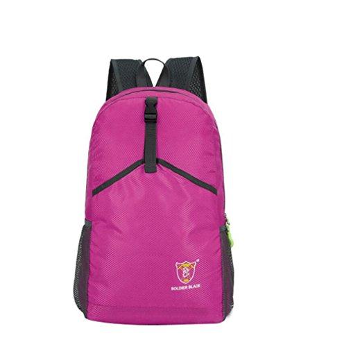 SZH&BEIB Faltbare Rucksack Wasserdichte Nylon Ultra Light für Reit Tasche Wandern Wasser-Beutel F