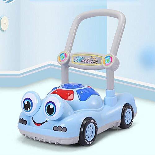 ZHAOHUIFANG Laufkatze, Laufkatze, Spielzeugauto Für Kinder, 6-18 Monate, Anti-Test, Musik, Rollator,Blue