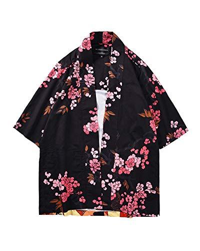 Preisvergleich Produktbild Shaoyao Unisex Kimono Jacke Übergangsjacke 3 / 4 Ärmel Gedruckt Lose Hemd 812002 2XL