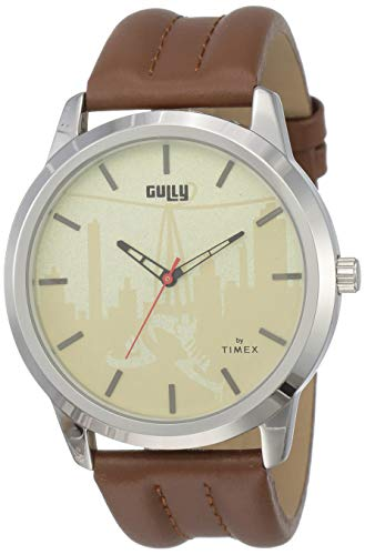 Gully by Timex Hip-hop Analog Gold Dial Men's Watch-TWEG15019