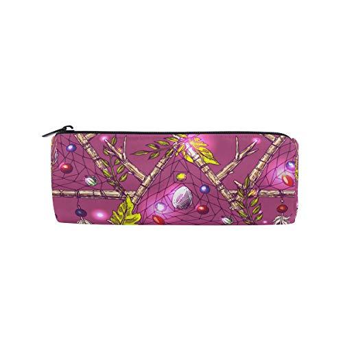 Ahomy Estuches de lápices atrapasueños Sunlight con cremallera bolsa para adolescentes, niñas y niños, bolsa de viaje de maquillaje para mujeres