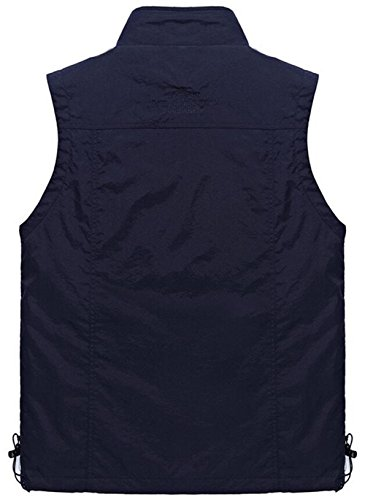 Herren Outdoorweste Multi Pockets Jacken Sporting Reißverschluss Praktischen Taschen und Fotografie Weste Armee Grün
